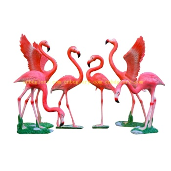 Best Selling garden home decor fiberglass resin bird Flamingo sculpture