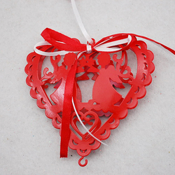 Latest promotion price iron stars christmas hanging ornament for decoration