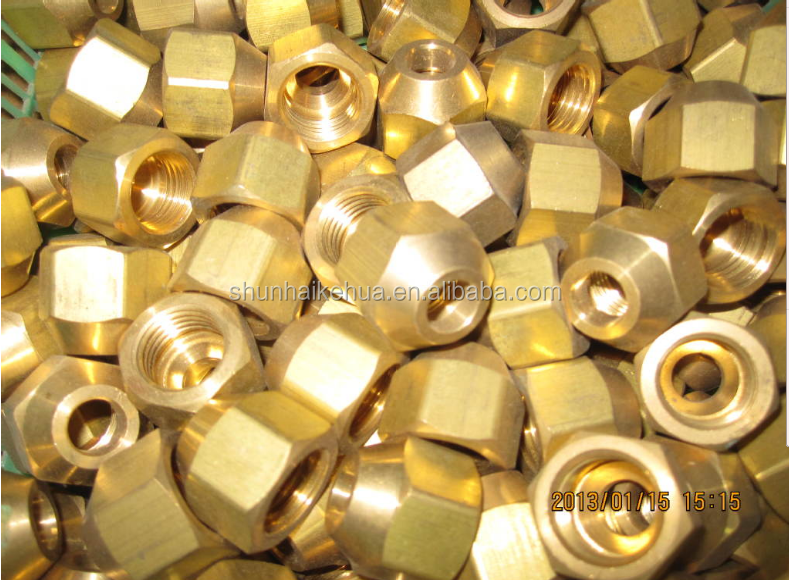 Factory High quality brass flare nuts as air conditioner spare part
