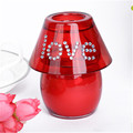 red glass votive shade lamp candle holder for wedding