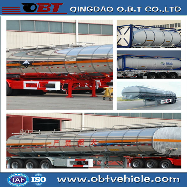 Wholesale Round aluminum diesel fuel tank semi trailer