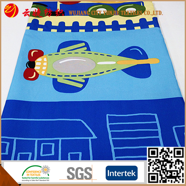 100% Polyester Bed sheets cartoon curtain fabric