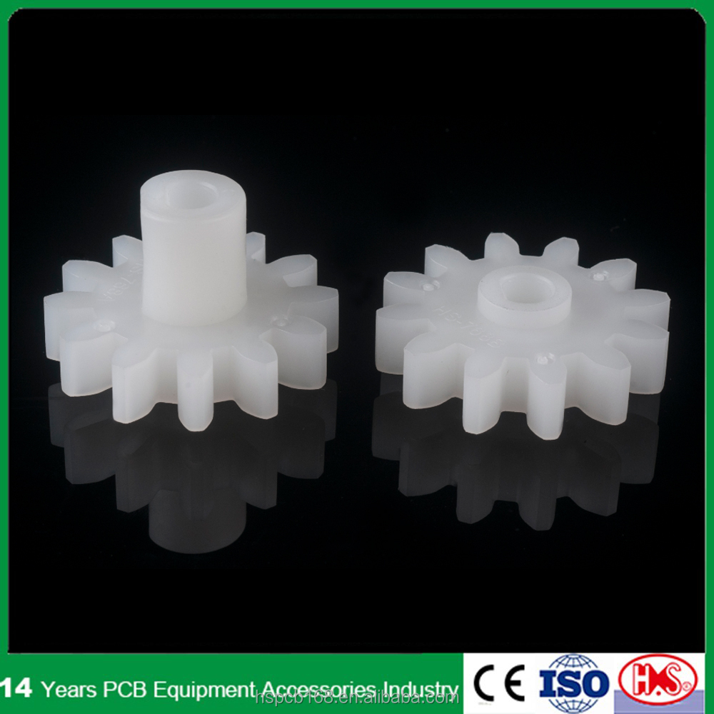 12Z PP/PVDF plastic spur <strong>gear</strong>/custom <strong>gear</strong> for PCB equipments