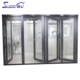 Australian standard AS2047 Cheap interior double glazed aluminium accordion folding doors