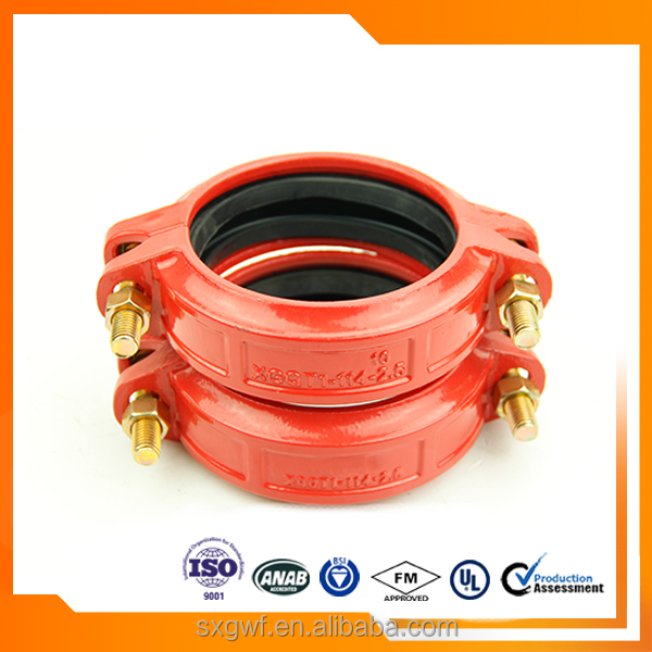 china ductile iron pipe fittings grooved fittings with UL/FM