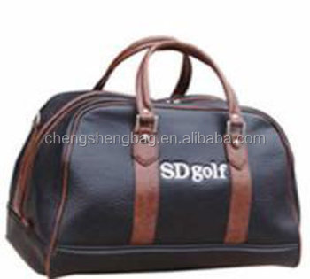 PU leather golf clothes bag