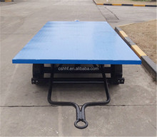 Platform Bulk Cargo Trailer with double axle for goods transportation