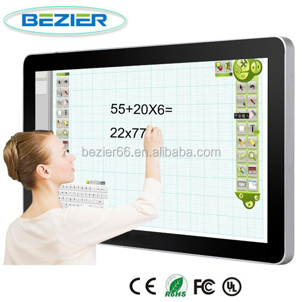 ALL in one tv computers 75 inch FHD 1080P / UHD 4K promothean smart interactive whiteboard
