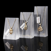 Wholesale New Design Triangle Acrylic Necklace Jewelry Display