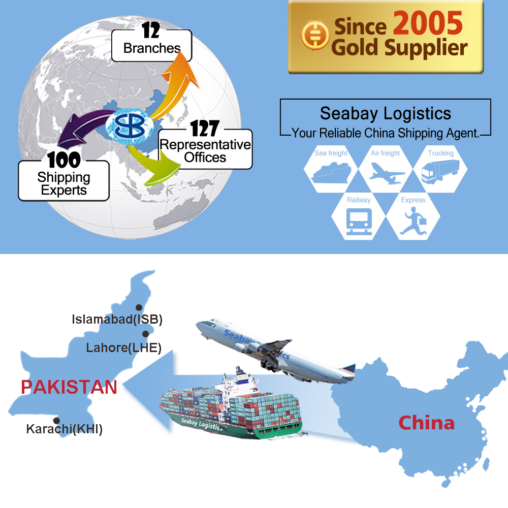 Freight forwarder cargo logistics agent company shipping service rates from china to karachi pakistan