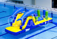 dolphin water obstacle, inflatable pool floating obstacle