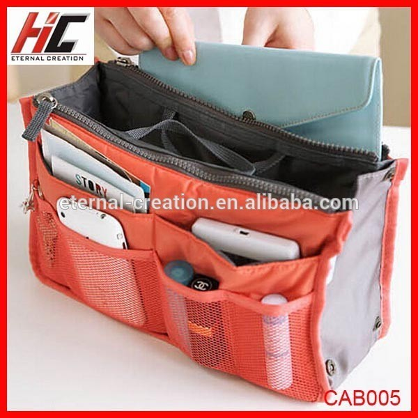 Organnic cotton bag organizer bag in bag for travel New products