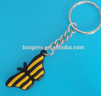Promotional soft pvc the butterfly key chain the butterfly keying