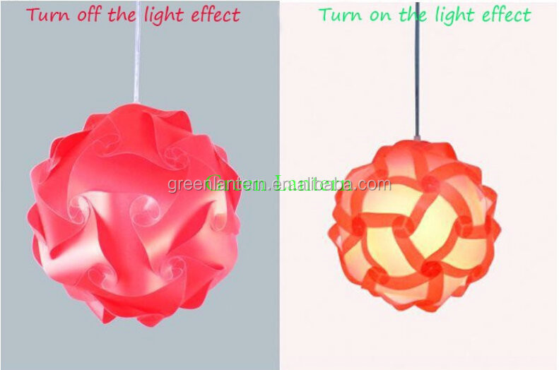 DIY <strong>Modern</strong> Pendant Ball novel iq lamp puzzle lamdshades for home decoration and Christmas bar decoration