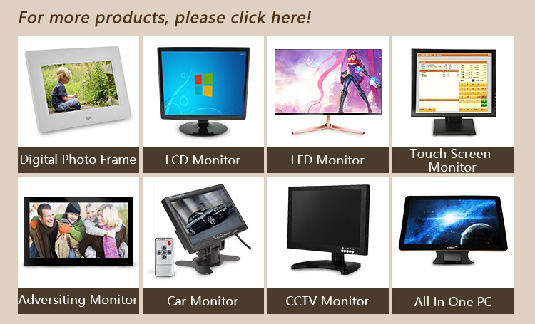 LED backlight high resolution VGA AV TV speaker input 19 used lcd monitor