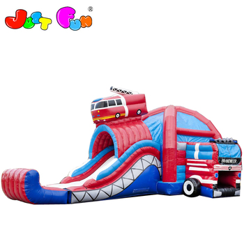 commercial inflatable  slide with bounce house, kids inflatable jumping castle with wet and dry slide combo
