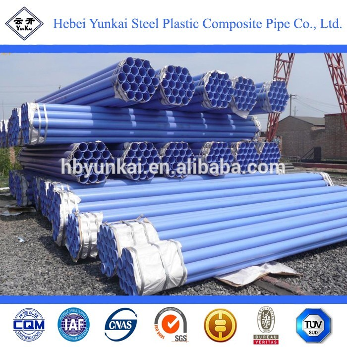 Hot galvanized plastic coated steel water pipe