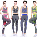 Womens summer sport wear fitness gym yoga wear suit