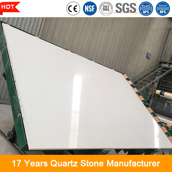 Excellent quality 10-30mm thickness statuary white quartz slabs