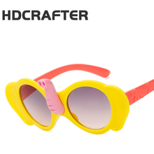 2017 HDCRAFTER lovely Girls elephant's trunk Sunglasses Children Anti-uv kids Sun Glasses boys Gafas De Sol Ninos