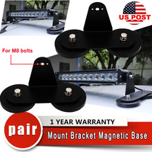 Powerful Mount Bracket Sucker Holder Magnetic Base f/ Roof Led Light Bar Offroad magnet brackets led light bar