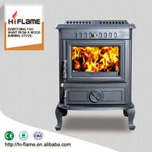 HF443 contemporary 18 KW cast iron water jacket wood burning stove with boiler