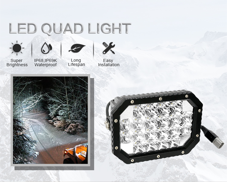 Aurora Square 6inch 60w 4wd LED Driving Light Off Road LED
