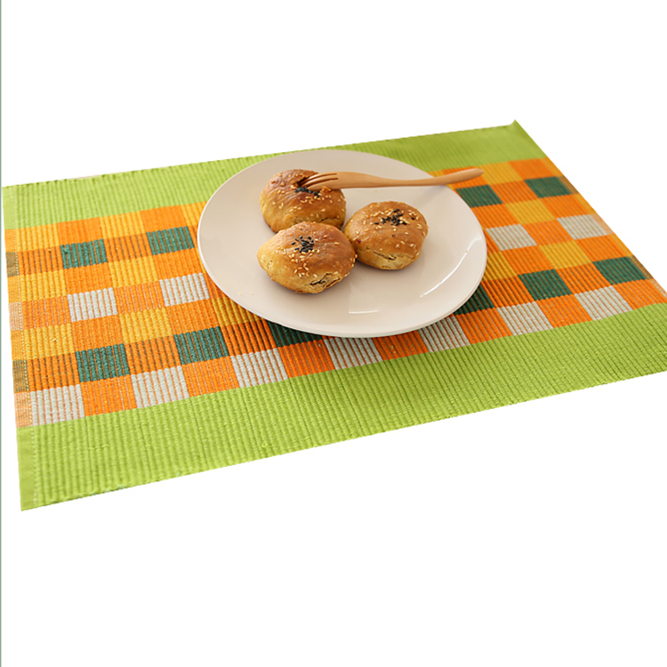 Chinese Supplier Hotel-used slate Woven jacquard PP pvc placemat