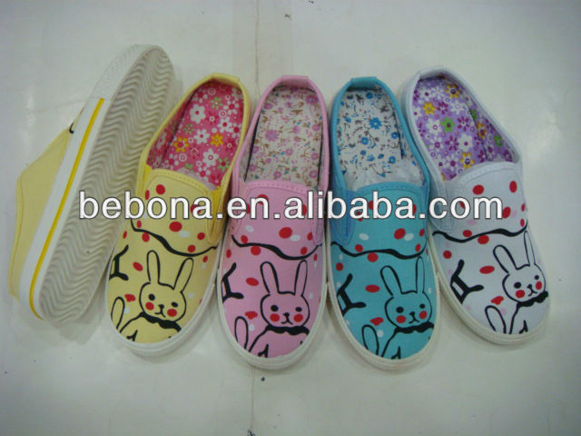 graffiti stylish canvas shoes slip on