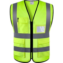 Yellow Orange Reflective High Visibility <strong>Safety</strong> Vest Hi Vis Silver Strip Crossing Guard Construction <strong>safety</strong> vest