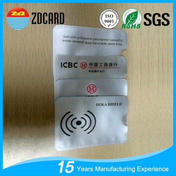 Factory Price Aluminum Foil Paper Case For Rfid Credit Card