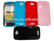 Solid TPU Gel Cell Phone Back Case For HTC One S Z520e