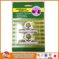 plastic adhesive small wire plastic self adhesive clip sticking hook