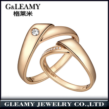 jewelry set price fashion 925 Sterling Silver 18K Gold Plated Classic Lovers Couple ring