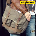 0118 Fashion Popular Casual Khaki Canvas Shoulder Bags for Men