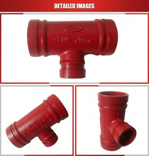 Ductile Iron Grooved Pipe Fitting Grooved steel pipe tee