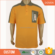 Adult cotton pique pocket polo t-shirt