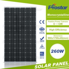 High quality monocrystalline 260wp pet laminating solar module for sale