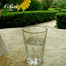 wholesale water Glass cup for home / machine made round Mouth drinking glassware