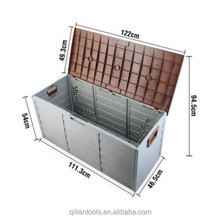 Big capacity plastic outdoor garden storage chest
