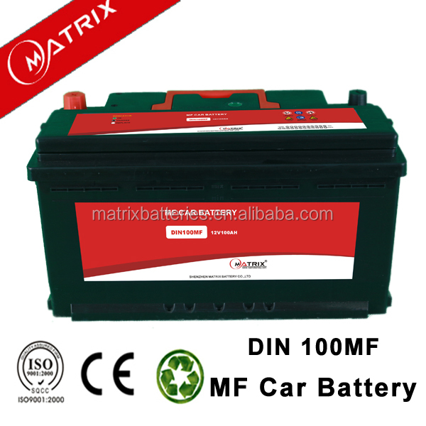 n100 12v 100ah dry charged auto car battery price