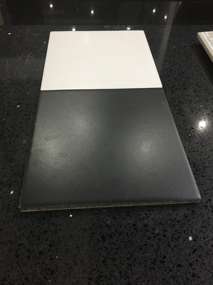 black and white floor tile design 200*200mm from foshan MDC