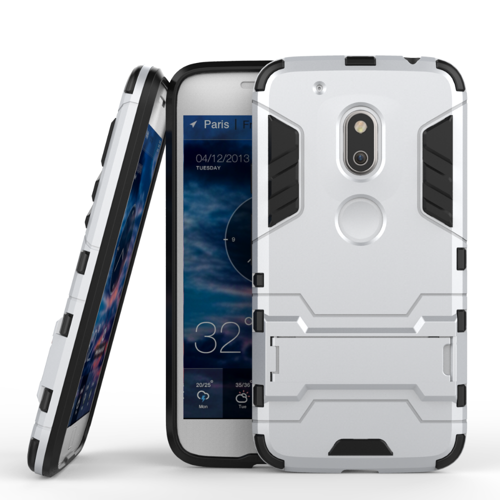 Best Selling Shockproof kickstand TPU PC case for <strong>motorola</strong> moto g4 play