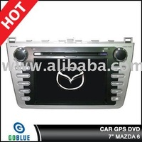7 inch car dvd player speical for MAZDA 6 with high resolution digital touch screen ,gps ,bluetooth,TV,radio,ipod