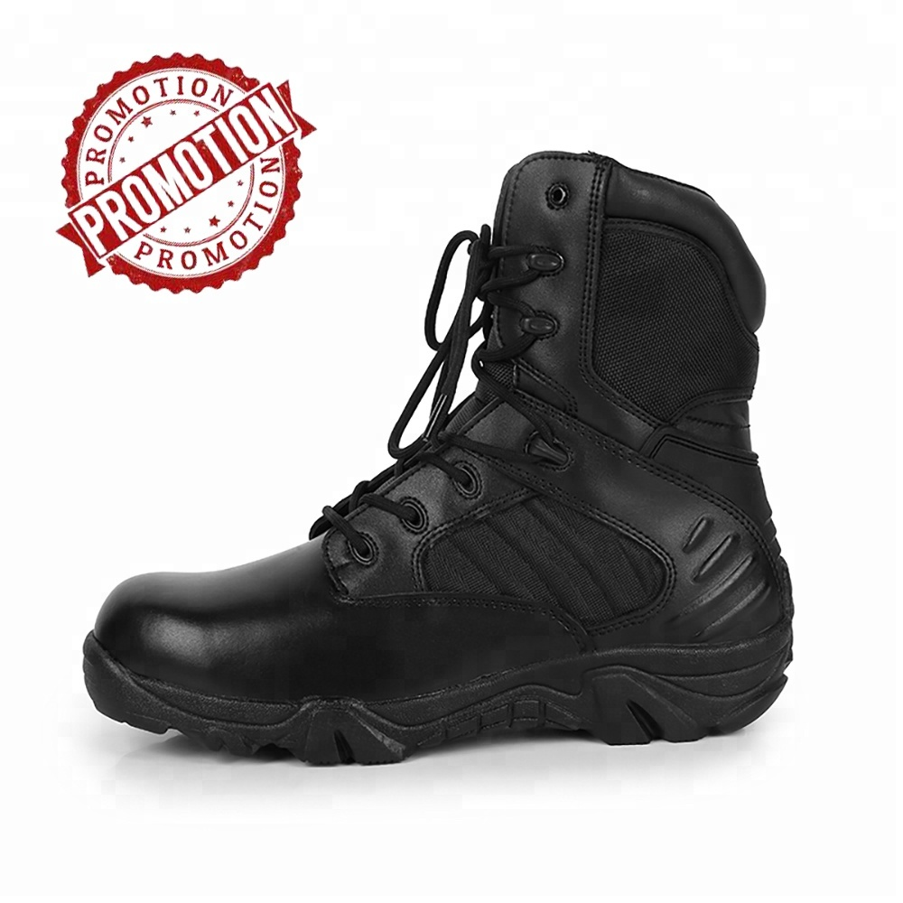 Rubber Sole Material and Genuine Leather Upper Material Non slip Military Black Delta <strong>Boots</strong>