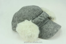Popular Design Promotional Winter Warm Unisex Felt Baseball Earmuff hat