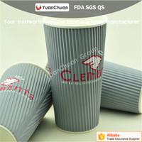 China newly fashion of cheap disposable printed paper coffee ripple cups