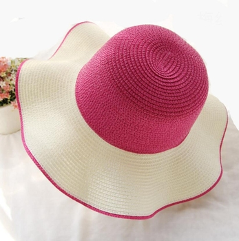 Simple 6 Colors Floppy Straw Hat