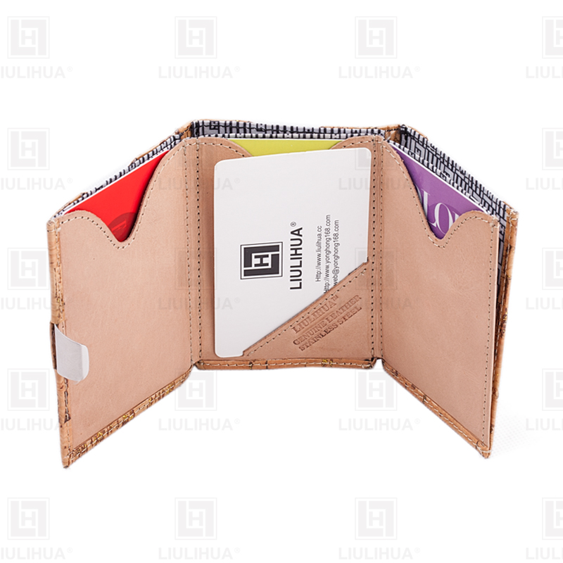 Fashion credit card holder Wood Grain Leather Wallet For Men business Bank card holder