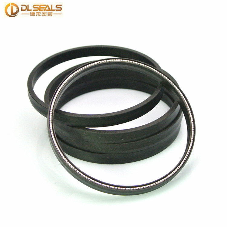DLSEALS PTFE cased V type springs 20x30x5 mm Slanted Coil spring energized seals